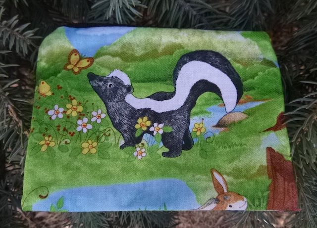 Skunk and Fox Coin Purse, The Raven