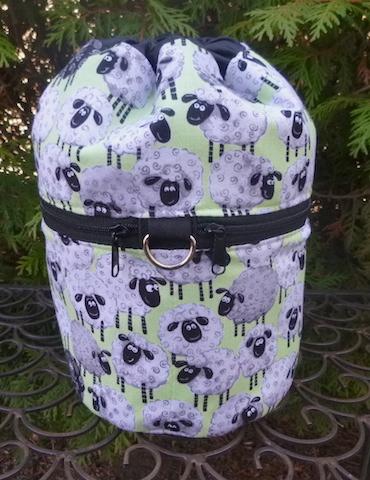 Smiley Sheep Kipster Knitting Project Bag