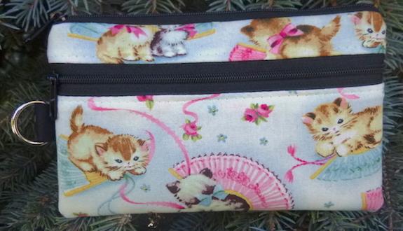 Smitten Kitten Mini Wallet Purse Organizer, The Sweet Pea