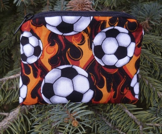 Soccer balls and flames Coin Purse, The Raven