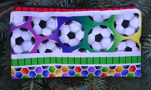 Soccer Stripe Deep Scribe pen and pencil case