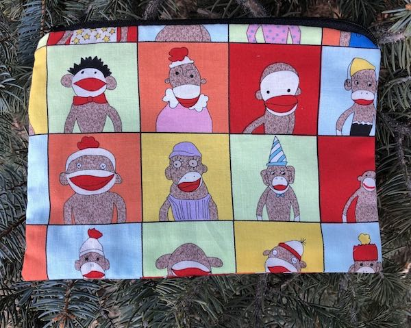 Sock Monkey Class Pictures zippered bag, The Scooter