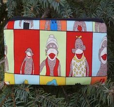 Sock Monkey Class Pictures pen and pencil case, The Scribe