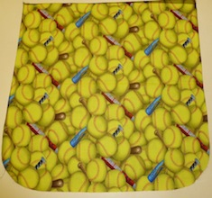 Softballs Pick your Size Morphin Messenger Bag Flap