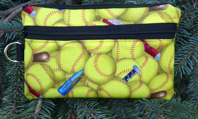 Softball Mini Wallet Purse Organizer, The Sweet Pea