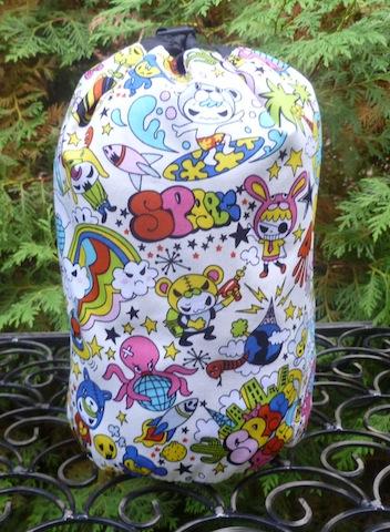 Space Kawaii SueBee Round Drawstring Bag