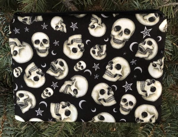 Speaking Skulls black zippered bag, The Scooter