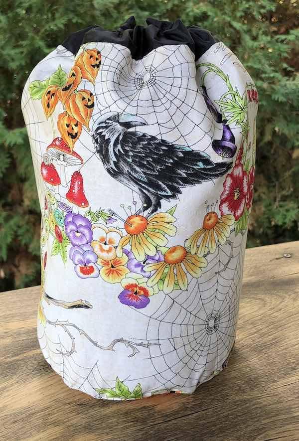 Spellcasters Garden SueBee Round Drawstring Bag