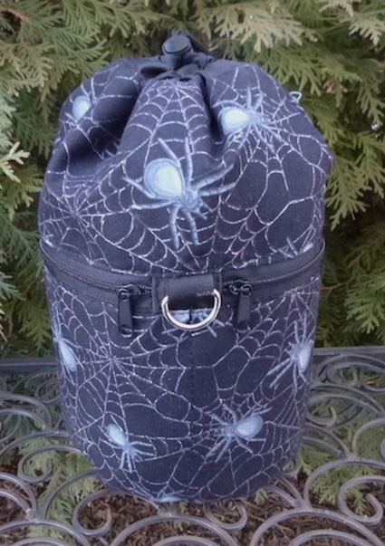 Spiders and Webs Kipster Knitting Project Bag