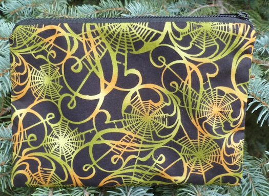 Spider Web Spirals in green zippered bag, The Scooter