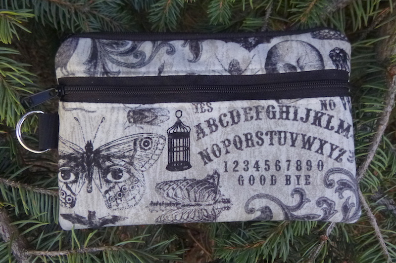 Spooky Seance Mini Wallet Purse Organizer, iPhone wallet, The Sweet Pea