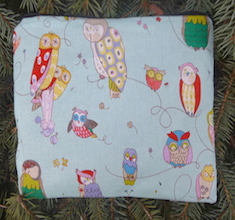 Spotted Owls Slide Mahjongg card and coin purse