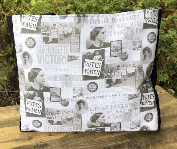 Suffragette victory tote bag, The Fleur - celebrating 100 year anniversary of the 19th Amendment, women's voting rights