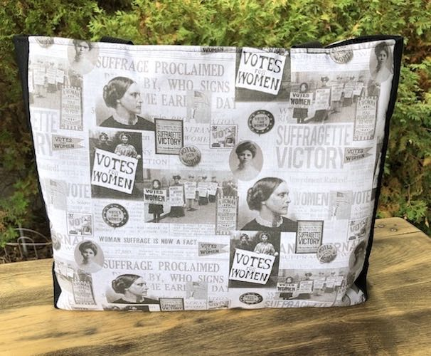 Suffragette victory Fauna Deep Tote - celebrating 100 year anniversary of the 19th Amendment, women's voting rights