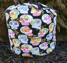 Sugar Skulls drawstring bag, The Large Suebee