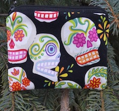 Sugar Skulls, Day of the Dead Coin Purse, The Raven