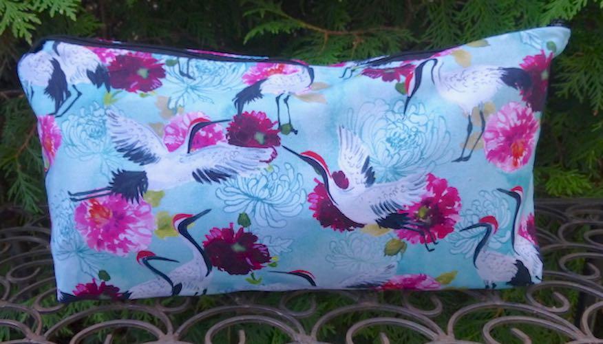 Summer Cranes Large Zini Flat Bottom Bag