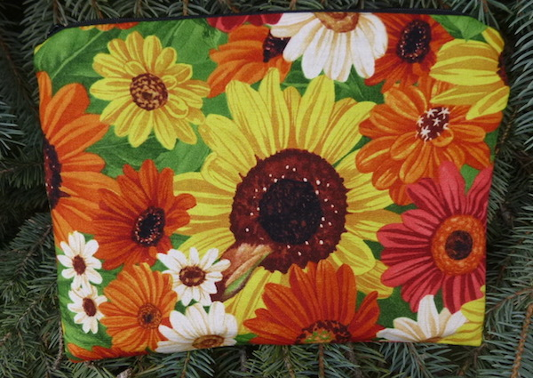 Sunflowers Slide Mahjongg card and coin purse
