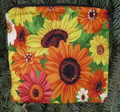 Sunflowers Slide Mahjongg card and coin purse