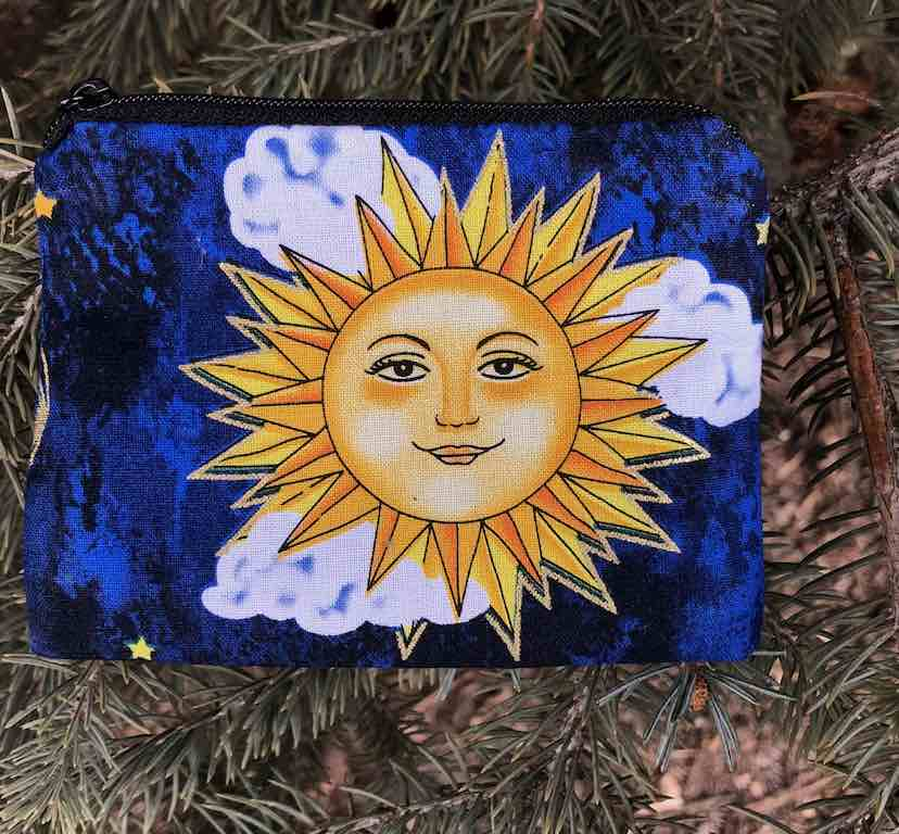 Smiling Suns Coin Purse, The Raven