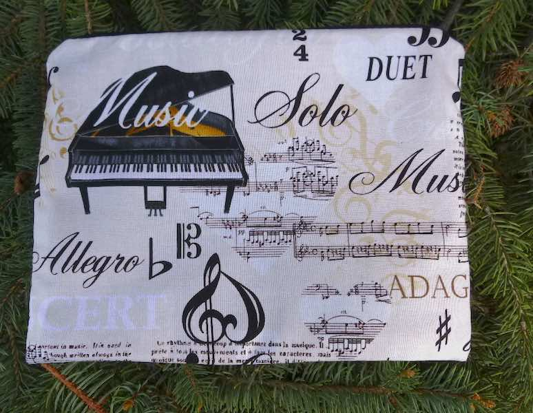 Piano Music Supa Scribe extra large pencil case