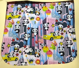Super Panda in Pink Pick your Size Morphin Messenger Bag Flap