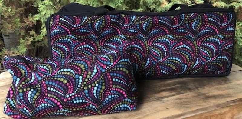 Swirling Beads Mahjongg Storage Set The Zippered Tote-ster and Large Zini