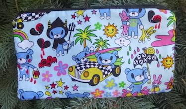 Teddy's Adventures in blue Deep Scribe pen and pencil case