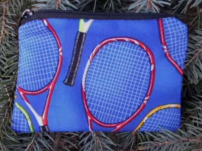 Tennis Rackets on Blue Coin Purse, The Raven