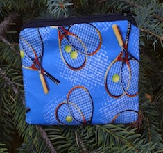Tennis on blue Coin Purse, The Raven
