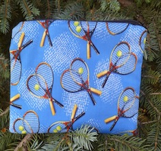 Tennis on blue Zippered Bag, The Scooter