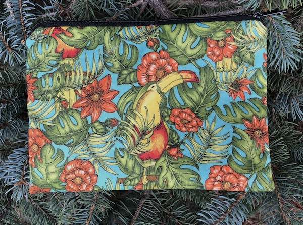 Toucans zippered bag, The Scooter