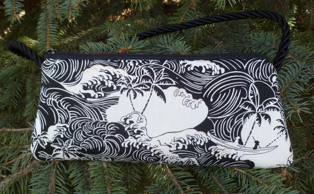 Tropical waves evening bag clutch wristlet shoulder bag, Bebe-CLEARANCE