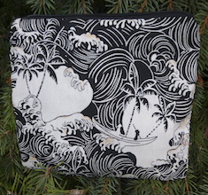 Tropical Waves zippered bag, The Scooter
