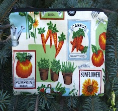 Seed Packets zippered bag, The Scooter
