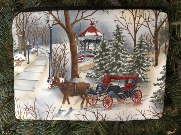 Victorian Winter zippered bag, The Scooter