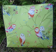 Watching Owls Medium Fleur Tote, wide- CLEARANCE