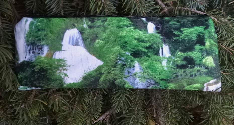 Waterfalls in the forest pen and pencil case, crochet hook pouch, The Scribe