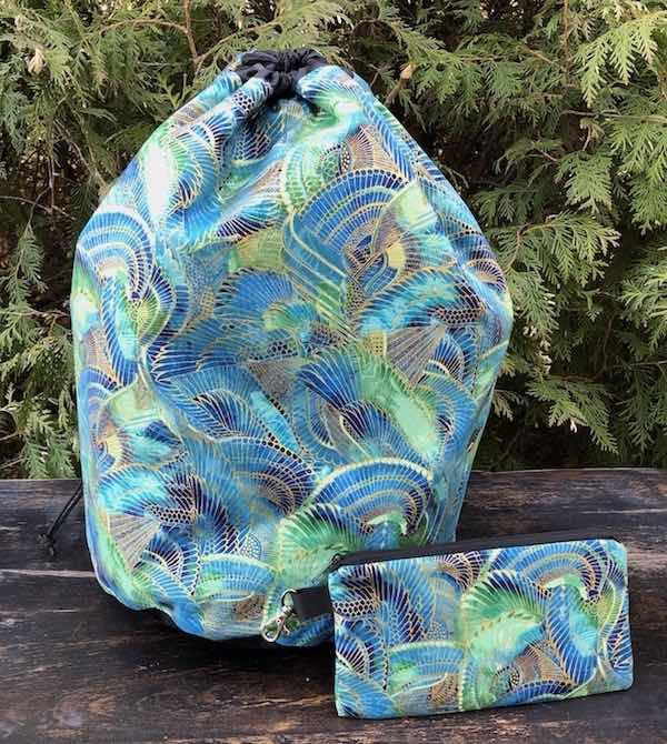 Wings of the Gods Alpaca Deluxe, large knitting bag and pouch