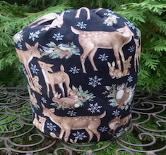 Winter Animals SueBee Round Drawstring Bag