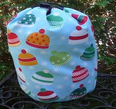 Winter hats SueBee Round Drawstring Bag