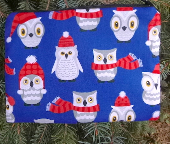 Winter Owls zippered bag, The Scooter
