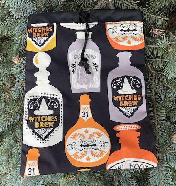Witches Brew Flatie Jr. a flat drawstring bag