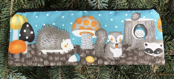 Woodland Friends pen and pencil case, crochet hook pouch, The Scribe