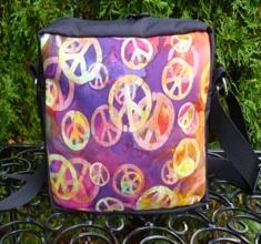 Scattered Peace sign batik Hipster Bag, The Otter