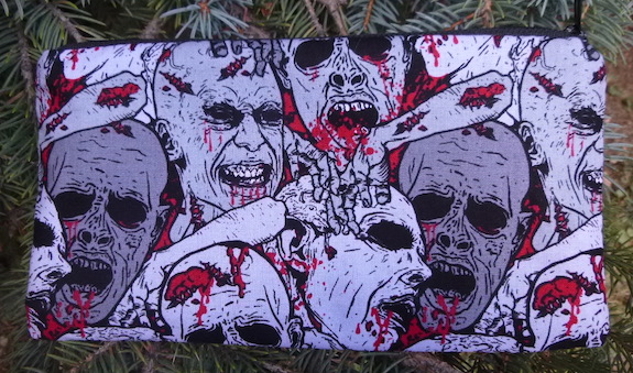 Zombie Heads Deep Scribe pen and pencil case-CLEARANCE