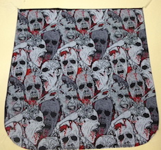 Zombie Heads Pick your Size Morphin Messenger Bag Flap