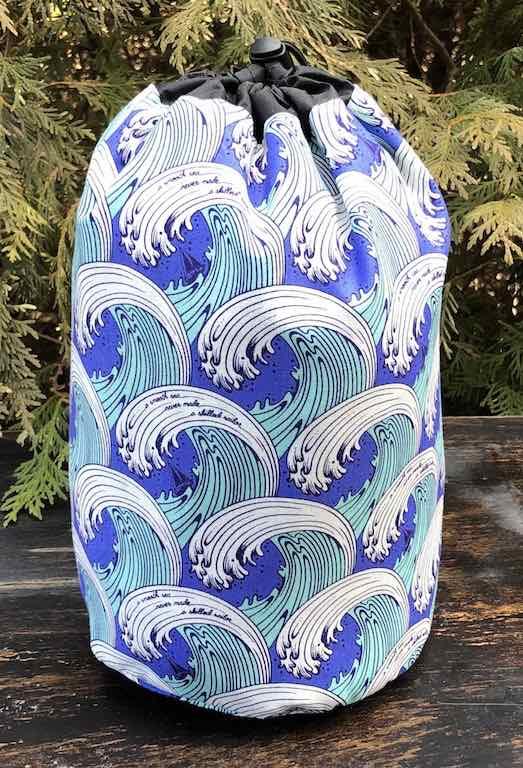 Tula Pink's Zuma SueBee Round Drawstring Bag